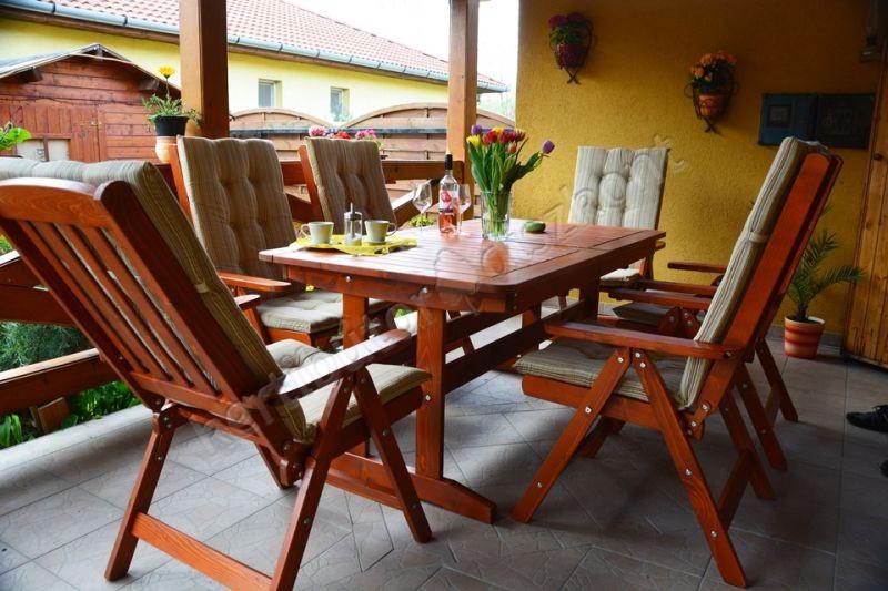 BONANZA kerti garnitúra bővíthető asztallal