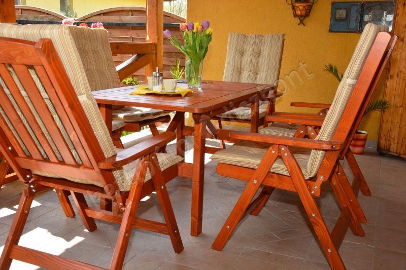 Bonanza kerti garnitúra normál asztallal